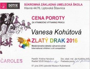 Zlaty drak 2016_Kohutova