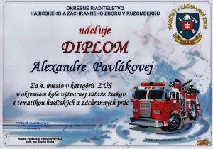 diplom Pavlakova hasici
