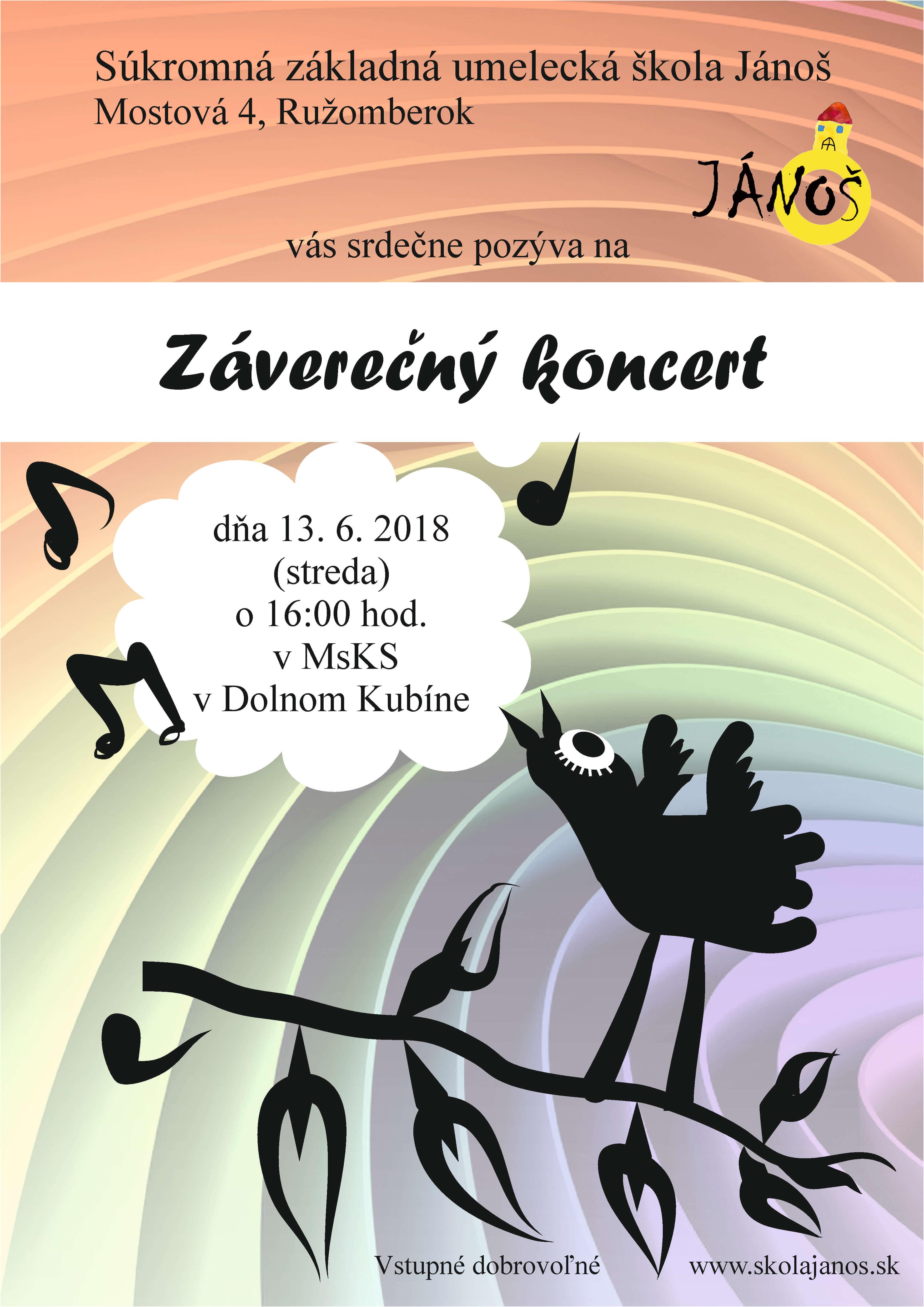 Záverečný koncert DK